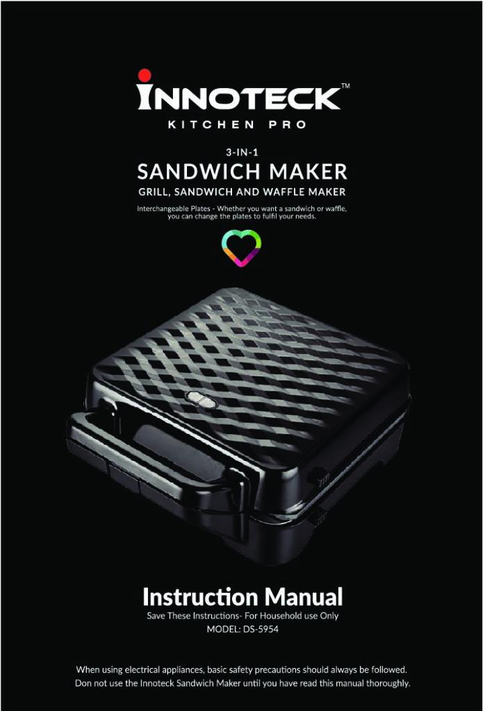 Sandwich Maker Instructions